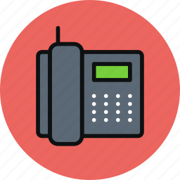 call, communication, contact, device, fax, phone icon