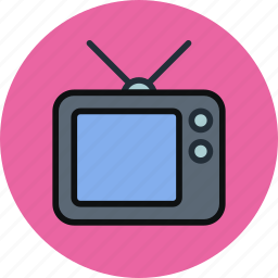 broadcast, channel, device, entertainment, television, tv, watch icon