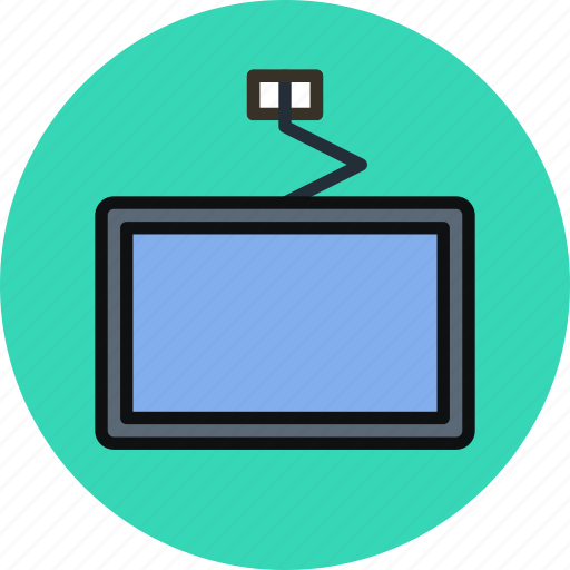 broadcast, channel, device, mount, television, tv, watch icon