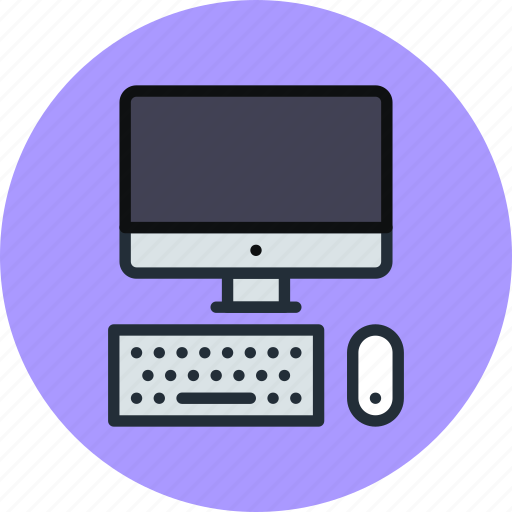 computer, desktop, device, display, keyboard, mac, screen icon