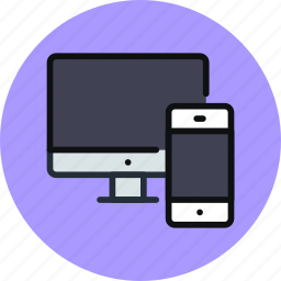 computer, devices, iphone, mac, pc, phone icon