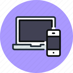 computer, devices, iphone, laptop, macbook, phone icon