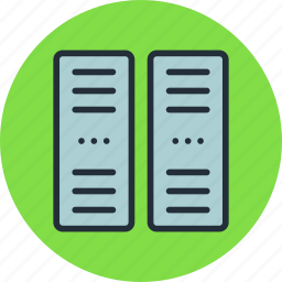 center, data, network, pc, rack, server icon