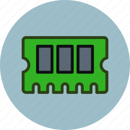 hardware, memory, pcb, ram icon