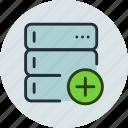 add, backup, base, data, database, rack, server