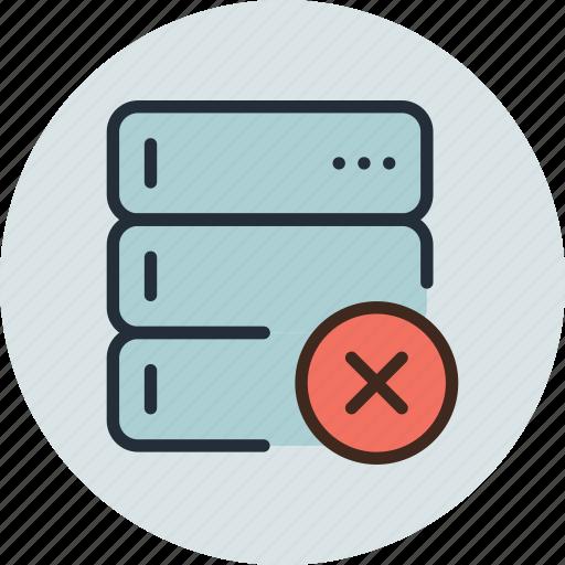 backup, base, database, delete, rack, remove, server icon