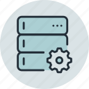 backup, base, data, options, rack, server, settings icon