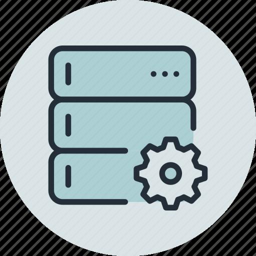 backup, base, data, options, rack, server, settings icon