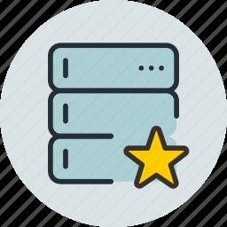 backup, base, data, database, favorite, rack, server icon