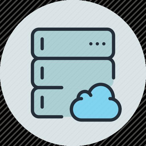 backup, base, cloud, data, database, rack, server icon
