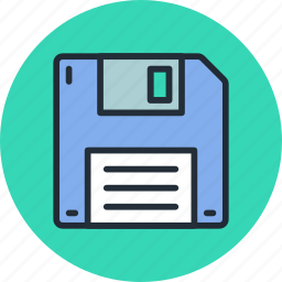 disk, diskette, download, floppy, guardar, save, storage icon