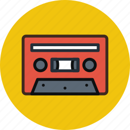 analog, audio, audiotape, music, tape icon