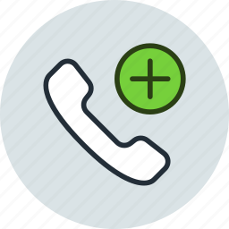 add, call, connect, contact, mobile, phone icon