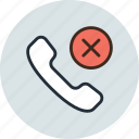 call, contact, mobile, phone, remove icon