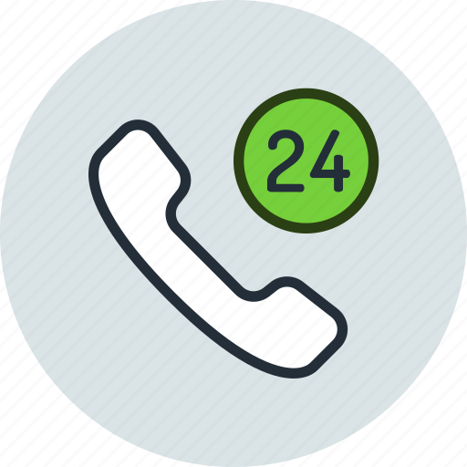 call, hours, mobile, phone, service, support icon