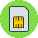 card, mobile, phone, sim, simcard icon