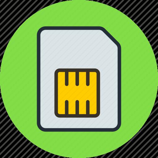 card, mobile, phone, sim, simcard icon