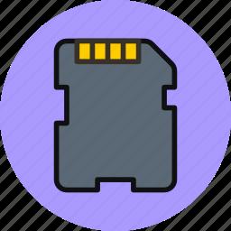 card, hardware, memory, sd card icon