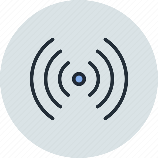 antenna, connection, radio, signal, waves, wifi, wireless icon