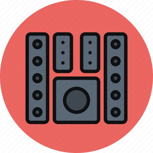 audio, bass, home theater, monitor, speaker, subwoofer, system icon