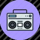 sound, music, boombox, radio, speaker, audio