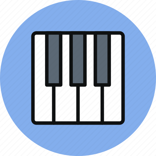audio, keyboard, music, piano, sound icon