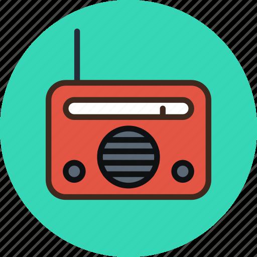 device, equipment, music, radio icon