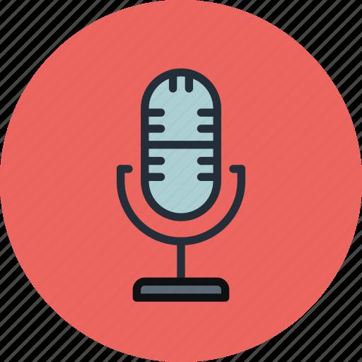 audio, broadcast, mic, microphone, record icon