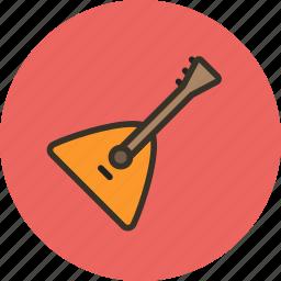 audio, balalaika, instrument, music, sound icon