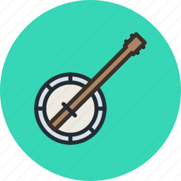 audio, banjo, instrument, music, sound icon