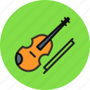 audio, instrument, music, sound, violin icon