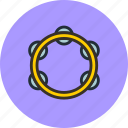 audio, instrument, music, sound, tambourine icon