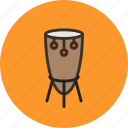 african, audio, drum, instrument, music, sound icon