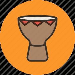 african, audio, drum, instrument, music, sound icon