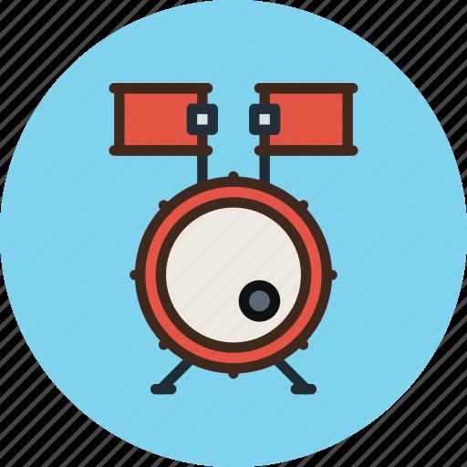 audio, drum, drums, instrument, music, sound icon