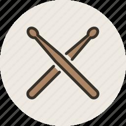 audio, drum, instrument, music, sound, stick, sticks icon