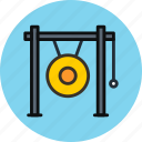 audio, gong, instrument, music, sound icon
