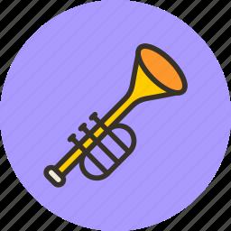 audio, fife, instrument, music, sound, trumpet icon