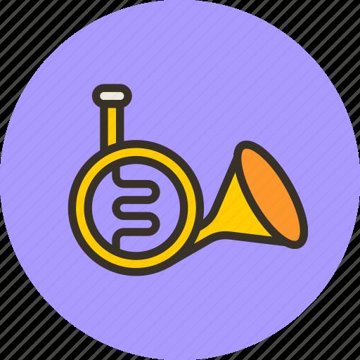 audio, horn, instrument, music, sound, trumpet icon