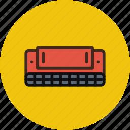 accordion, audio, harmonic, instrument, music, sound icon