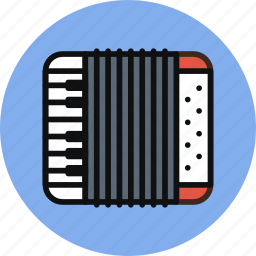 accordion, audio, instrument, music icon