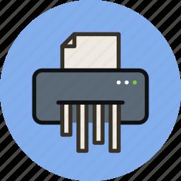 destroy, device, paper, shredder icon