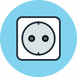 electric, electric socket, jack, socket icon