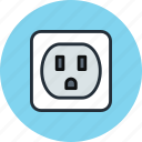 electric, ground, jack, socket icon