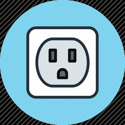 electric, ground, jack, socket icon