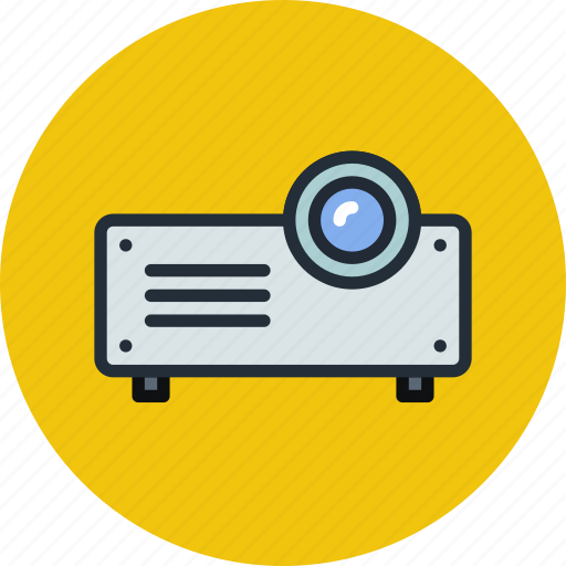device, icojam, office, presentation, projector icon