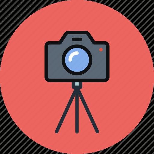 cam, camera, image, multimedia, photo, photography, tripod icon
