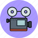 cam, camera, device, media, record, retro, video icon