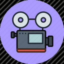 cam, camera, device, media, record, retro, video icon