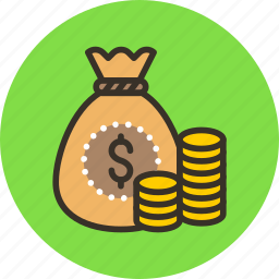 bag, cash, coins, gold, money, wealth icon